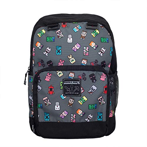 Minecraft Mini Characters Girls Backpack | Official Merchandise | Back to School, Gamer Rucksack, Childrens Bags, Young & Teen Gaming Fan Birthday Gift Idea