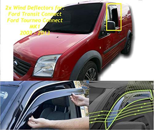 2 x Windabweiser für Ford Transit Connect MK1, Ford Tourneo Connect MK1 2002 2003 2004 2005 2006 2007 2008 2009 2010 2011 2012 2013.