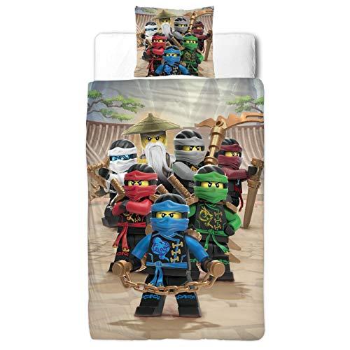 Lego Ninjago Kinder Bettwäsche FLANELL / BIBER 2 tlg. 80x80 + 135x200 cm 100 {abc0396a81a260da7a0f3819d342614835e5c55e9d708f5c3a9d277e034c0243} Baumwolle - deutsche Standard Größe -
