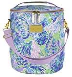 Lilly Pulitzer Purple/Blue/Green Insulated Soft Beach Cooler with Adjustable/Removable Strap and Double Zipper Close, Shell of a Party