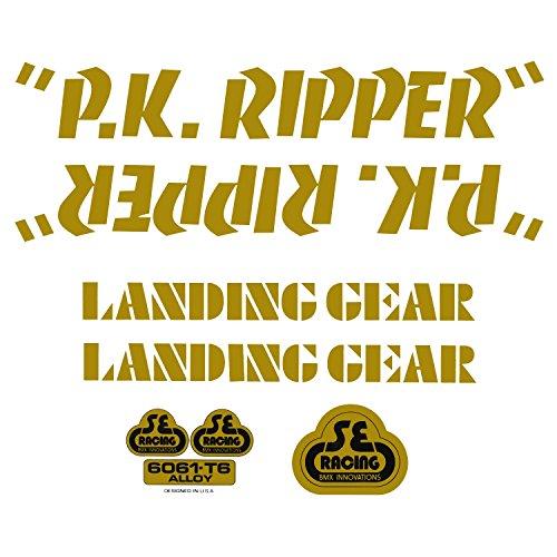 SE Bikes PK Ripper Decal Set Null Gold