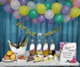 Mimosa Bar Sign Banner Kit Gold Floral Decorations with Juice Tags Balloons for Bridal Shower Bubbly...