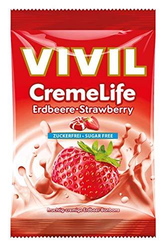 Vivil Creme life Erdbeer Geschmack ohne Zucker 110g 5er Pack