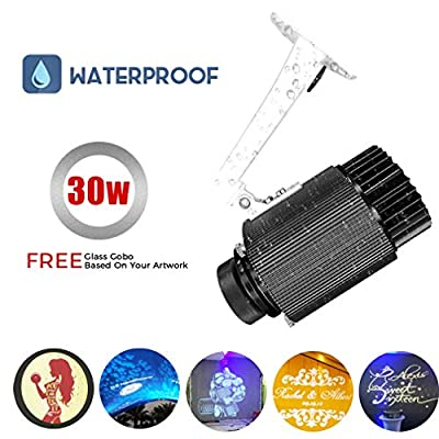 WUZHENG 30W Led GOBO Projector Light Logo Projector Lamp IP65 Waterproof for Outdoor Indoor Use