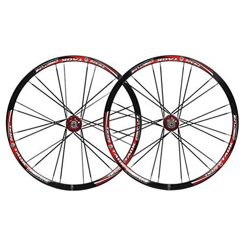 Mountainbike-Radsatz 26 MTB doppelwandige Legierung Rim-Scheibenbremse Fahrradräder 24h QR 8-10 Geschwindigkeitsdichtungslagerkassettennaben (Color : F)