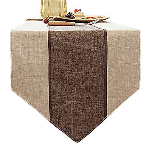 Chemin de table de Couture, Couverture de Meuble TV en Tissu de Coton et Lin (Couleur : Style2, Taille : 35×180cm)