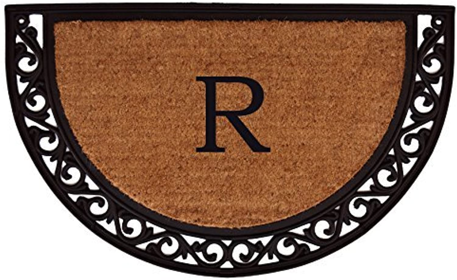 Home & More 100102436R Ornate Scroll Monogram Doormat 2-Feet X 3-Feet (Letter R)