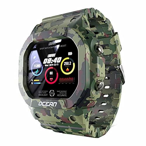 XHJL Reloj Inteligente,Reloj Deportivo Resistente de 1,3 Pulgadas con al Agua IP68 presión Arterial/Ritmo cardíaco/Monitor de sueño podómetro Actividad Fitness rastreadores Reloj al Aire Libre,Unisex