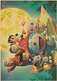 ATggqr Jigsaw Puzzle 1000 Piezas 50x75cm Anime Doraemon Puzzle de Alta Dificultad Desafío de Ejercicio Cerebral Juego de Alta dificultad Regalo