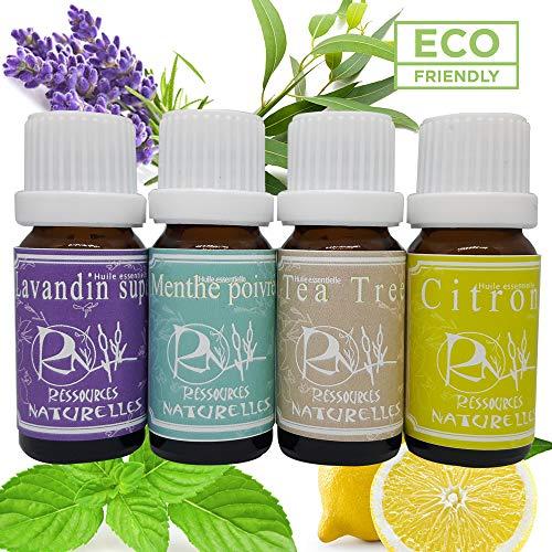Ressources Naturelles Set de 4 Huiles Essentielles 1 Unité - 10 ml