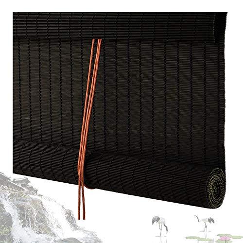 LIANGJUN bamboe gordijnrolgordijn rolgordijn vouwgordijn lambrisering halfschaduw ademende partitie achtergrond muur Japanse stijl Restaurant Tea Room, 60 cm / 80 cm / 100 cm breed