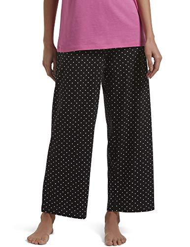 Hue Women's Plus-Size Plus Rio Dots Pant, Black, 3X