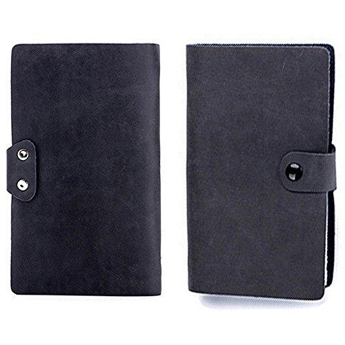 【THEBEST】カードケース 牛革 大容量 90枚収納 カードファイル 手帳型 マルチケース 名刺入れ カードケース 名刺入れ クレジットカードケース ブラック