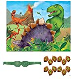 Unique Party- Juego de Fiesta de Dinosaurios para 12 (58308)