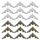 50 Piezas Cubierta Decorativa de Esquina, Esquina de Cubierta de Libro de Metal, Protector de Esquina de Metal Retro, para Libros, Marcos de Fotos, Cajas Antiguas