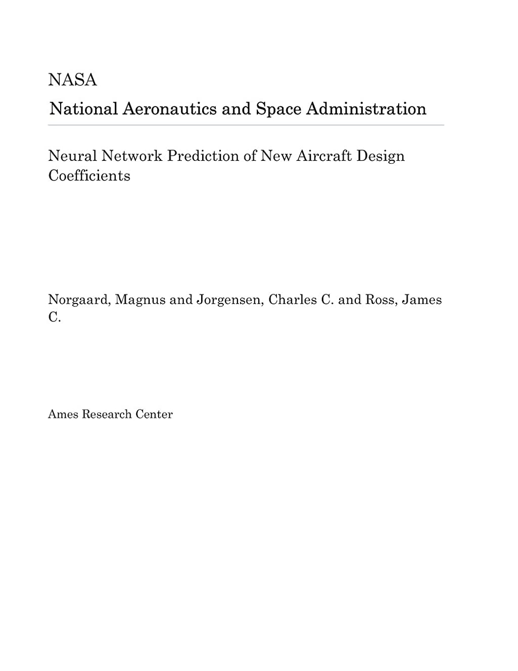 Neural Network Prediction of New Aircraft Design Coefficients