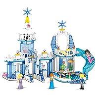 プリンセス城のビルディングブロックレンガマーメイドアリエルプリンセスエルザアンナシンデレラベル互換 おもちゃ