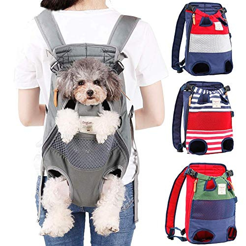 Jranter Dog Carrier Backpack - Legs Out Front-Facing Pet Carrier Backpack for Small Medium Large Dogs, Airline Approved Hands-Free Cat Travel Bag for Walking Hiking Bike and Motorcycle