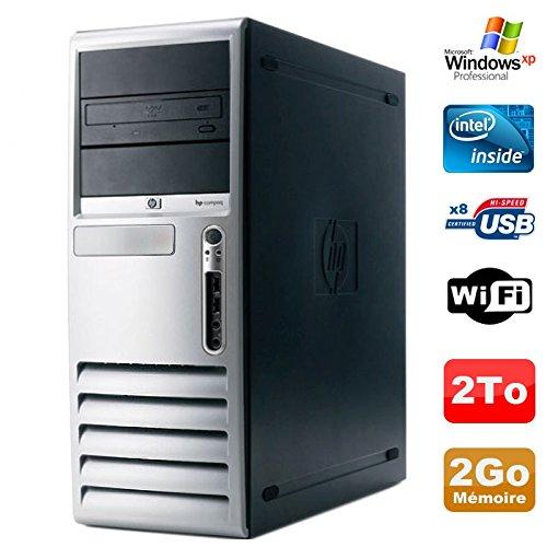 PC HP Compaq DC7100 - Torre Pentium 4 HT 521 (2,8 GHz, 2 GB DDR 2 TB, SATA, Xp Pro Wi-Fi)