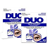 DUO Quick-Set Clear False Strip Lash Adhesive, Dries Invisible 0.18 oz x 2 packs