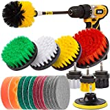 Holikme 22Piece Drill Brush Attachments Set,Scrub Pads & Sponge, Power Scrubber Brush with...