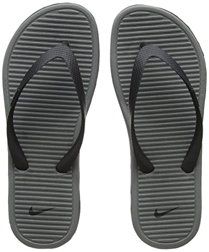 Nike Solarsoft Thong II Black/Grey Men's Sandals Flip Flops Size 9