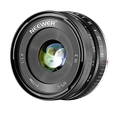 Neewer 32mm F/1.6 Manual Focus Prime Lens Sharp High Aperture, Compatible with Sony E-Mount APS-C Mirrorless Camera Like Sony A7III, A9?NEX 3, 3N, 5, NEX 5T, NEX 5R, NEX 6, 7, A5000, A5100, A6000, A61 by Neewer