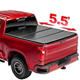 TLL Excellent 5.5' Hard Trifold Tonneau Cover Truck Bed Compatible With 2004-2014 F-150 0677