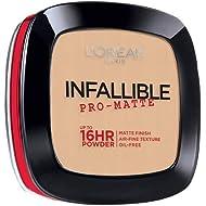 L'Oréal Paris Makeup Infallible Pro-Matte Powder, lightweight pressed face powder, 16hr...