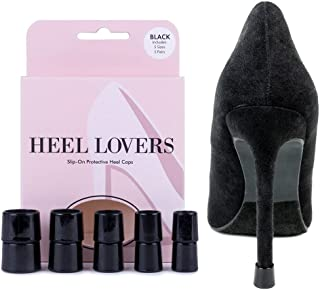 Heel Lovers Protective Heel Caps by FootFitter - High Heel Tip Covers for Women! (CLEAR)