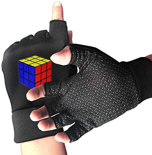 Light Saber DUN Non-Slip Finger Halve vinger-handschoenen Cartoon Cube oefenhandschoenen voor GYM gewichtheffen Training FITN fiets
