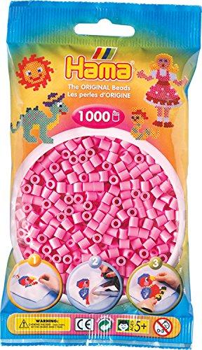 Hama 207-48 - Bügelperlen, ca. 1000 Perlen, pastell rosa