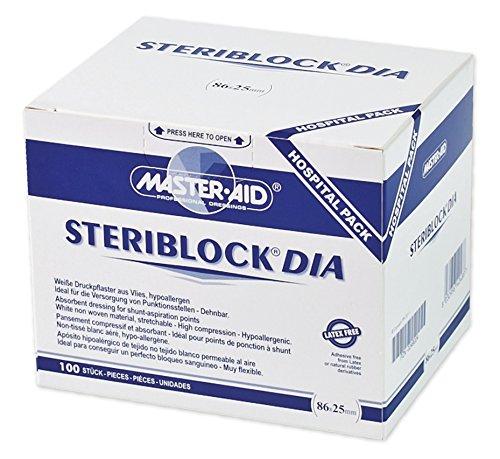 STERIBLOCK DIA 25x86 mm Kompressionspfl.ster.weiß 100 St