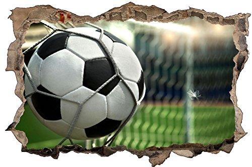 Fussball Tor Ball Stadion Wandtattoo Wandsticker Wandaufkleber D0412 Größe 40 cm x 60 cm