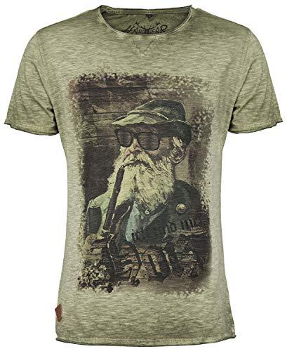 Hangowear Trachten-T-Shirts Fritz Oliv, Gr.L Herren