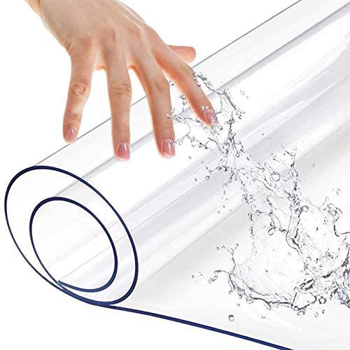 Tappeto Passatoia Proteggi Pavimento in Legno Duro in PVC Trasparente Spesso 1,5mm, Tappeto Antiscivolo in Vinile Rettangolare in Plastica Impermeabile, Ufficio di Corridoio
