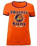 5th & Ocean NBA Phoenix Suns Adult Women Ladies Baby Jersey Short Sleeve Ringer Tee,L,Orange