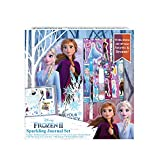 FROZEN ELSA DIARY - Complete Frozen journal diary set includes ready to decorate journal, 4 Frozen 2 stickers sheets, gel pen, glue, 100 sequins, 30 self-adhesive gems. COMES WITH LOTS OF FROZEN STICKERS - Includes lots of Frozen stickers with Elsa, ...