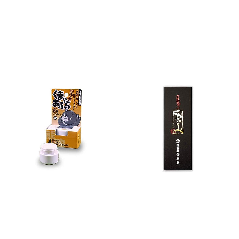 冷蔵庫居住者局[2点セット] 信州木曽 くまのあぶら 熊油スキン&リップクリーム(9g)?岐阜銘菓 音羽屋 飛騨のかたりべ[6個入]