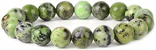 Justinstones Gem Semi Precious Gemstone 10mm Round Beads Stretch Bracelet 7 Inch Unisex