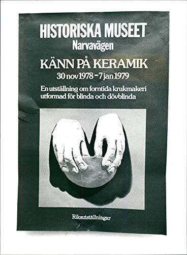 El Museo de Historia de Suecia. Una imagen de un póster de la exposición 1978 - Vintage Press Photo