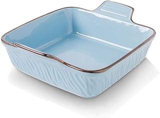 KOOV Ceramic Bakeware, 8x8 Baking Dish, Square Baking Pan, Ceramic Baking Dish, Brownie Pans for Cake Dinner, Kitchen, Tex...