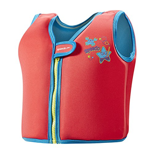 Speedo Kinder Sea Squad Swim Vest Bojenweste, Rot, 2-4 Jahre