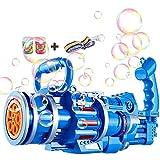 HJXX Gatling Bubble Machine, Gatling Automatic Bubble Machine Gun con Luces y música 2021 Cool Toys & Gift (Blue)