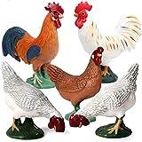 Kolobok – Farm Animals Action Figures – Chickens – Pets Animals Educational Toys – 5 pcs