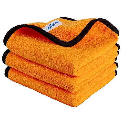 MR.SIGA Panni in microfibra per la pulizia della casa e dell'auto, panni lucidanti per la cura professionale dell'auto da 15,7 x 23,6 pollici, confezione da 3