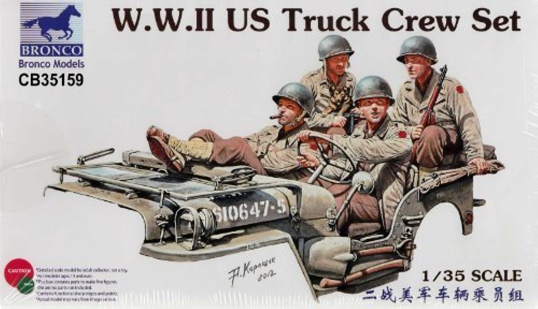 BNC35159 1 35 Bronco WW2 US Truck Crew Set (4 figures) MODEL KIT by Bronco