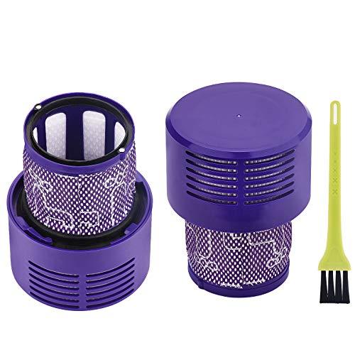 Jajadeal 2 Stück Ersatzteile Filter für Dyson V10 SV12 Staubsauger, Waschbar Filter Zubehör für Dyson V10 Cyclone Absolute / Animal / Total Clean / Motorhead Roboter-Staubsauger, # DY-969082-01