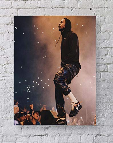 MeiMeiZ Kendrick Lamar Poster Standard Size | 18-Inches by 24-Inches | Kendrick Lamar Rapper and Songwriter Posters Wall Poster Print