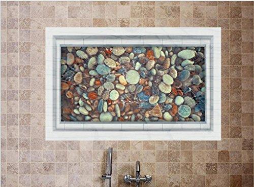 GYMNLJY Wand-Sticker 3D Kieselsteine Teich Bodenbeläge Innendekoration Wandtattoo PVC , 60*90cm